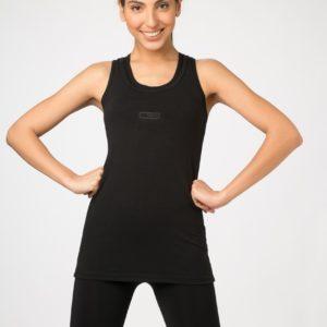 Musculosa de Mujer Larga Negro Cocot 4829