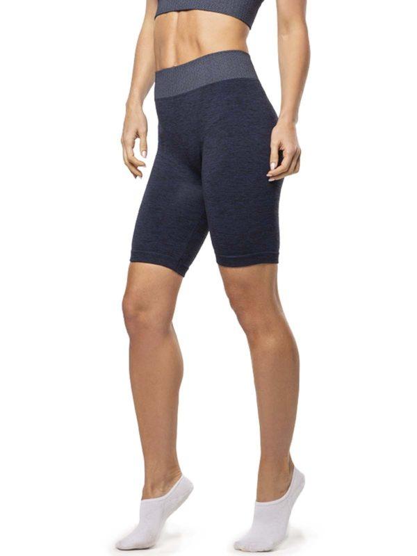 Pantalon Ciclista Melange Mix Sin Costura Azul Cocot 5233