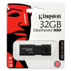 Pen Drive Kingston 3.0 DT100 G3 32GB Negro