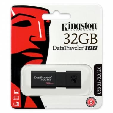 Pen Drive Kingston 3.0 DT100 G3 32GB Negro