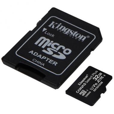 Tarjeta microSDHC 32GB Kingston Canvas Select Plus c/adaptador