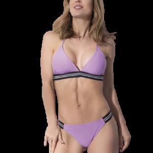 Bikini Triangulo Lurex Lila Cocot 12726 y Cola Less 12729