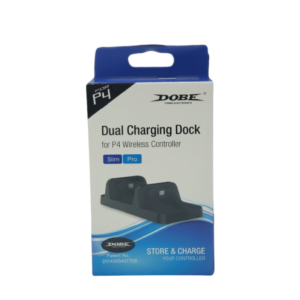 Cargador Base Doble Para Joystick Ps4 + Cable Usb Horizontal